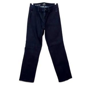 LOFT dark blue modern fit straight stretch jeans